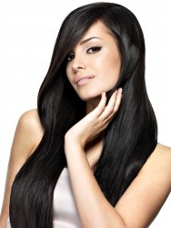 "#1 Black, 28"", Weft Hair Extensions"