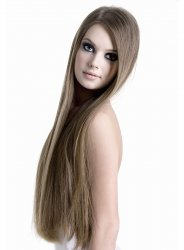 "#10 Light Brown, 24"", Micro Ring Hair Extensions"