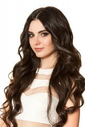 "#2 Dark Brown, 20"", Double drawn Tape Hair Extensions"