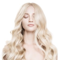 "#6001 Extra Light Blonde, 24"", Nano Hair Extensions"
