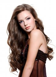 "#8 Brown, 20"", Halo Hair Extensions"