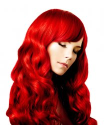"#Red, 20"", Clip In Hair Extensions"