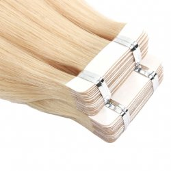 "#6001 Extra Light Blonde, 20"", Tape Hair Extensions"